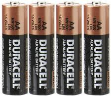 AA - 4 Duracell Batteries